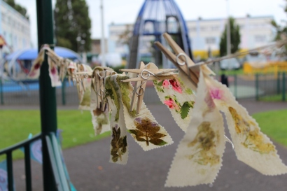nature bunting/be happy week