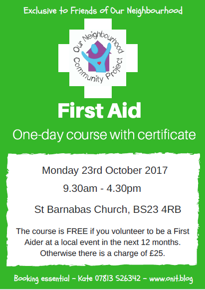 First aid 23.10.17 poster