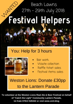 Beer festival volunteers