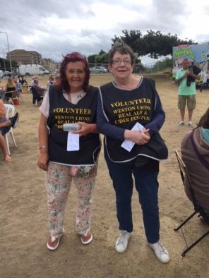 Debbie and Babs at the Ale Festival